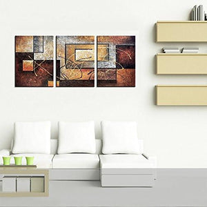 Phoenix Decor-Abstract Canvas Wall Art Paintings on Canvas for Wall Decoration Modern Painting Wall Decor Stretched and Framed Ready to Hang 3 Piece Canvas Art - zingydecor