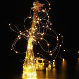 GDEALER 2 Pack Fairy Lights Fairy String Lights Battery Operated Waterproof 8 Modes 60 LED 20ft String Lights Copper Wire Firefly Lights Remote Control for DIY Wedding Party Dinner (Warm White)