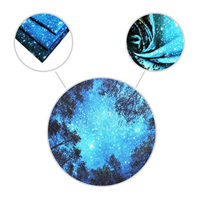 Forest Starry Tapestry Wall Hanging 3D Printing Forest Tapestry Galaxy Tapestry Forest Milky Way Tapestry Tree Tapestry Night Sky Tapestry Wall Tapestry for Dorm Living Room Bedroom (M, 4#forest star) - zingydecor