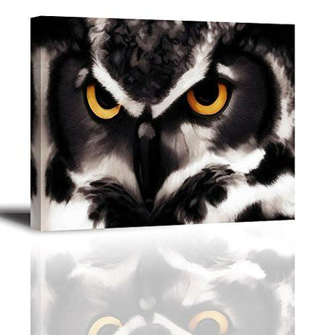 Good ... PIY Owl Wall Art With Frame, Owls Picture Canvas Prints For Bedroom,  Animals Wall ...