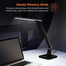 Load image into Gallery viewer, TaoTronics 14W LED Desk Lamp with USB Charging Port, Touch Control, 4 Lighting Mode with 5 Brightness Levels, Timer, Memory Function Black - zingydecor