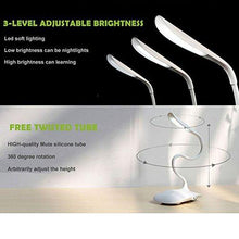 Load image into Gallery viewer, LED Desk Lamp,Yoocool Modern Stylish USB Port with Third Gear Touch Control LED Eye Lamp Brightness Adjustable Gooseneck Portable Eye-protected Small Table Lights - zingydecor