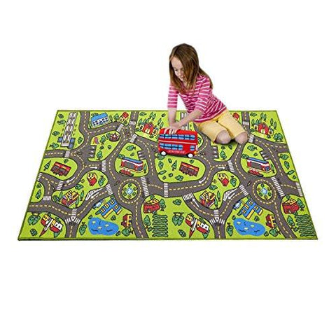 "Image of Extra Large 79"" x 40""! Kids Carpet Playmat Rug- Great For Playing With Cars - Play, Learn And Have Fun Safely"