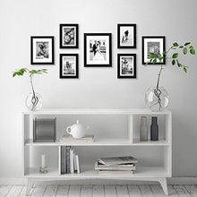 Load image into Gallery viewer, 7 Piece Gallery Wall Set - Includes: 11x14 Inch with 8x10 inch matte opening, Two 8x10 inch with 5x7 matte openings, Four 5x7 inch with 4x6 inch matte opening - zingydecor