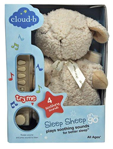 Image of Cloud b On The Go Travel Sound Machine Soother, Sleep Sheep - zingydecor