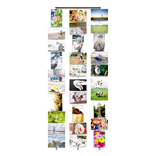 WALLNITURE Hanging Photo Organizer Holder Wall Mount Cable Set With Magnets - zingydecor