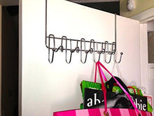 Load image into Gallery viewer, DecoBros Supreme Over The Door 11 Hook Organizer Rack, Chrome Finish - zingydecor