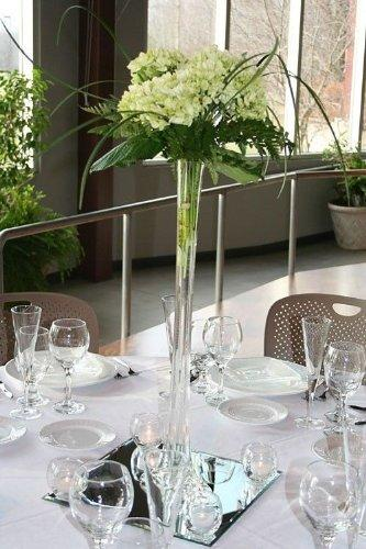 "20"" Glass Eiffel Tower Vases - 12 Pack - Clear"