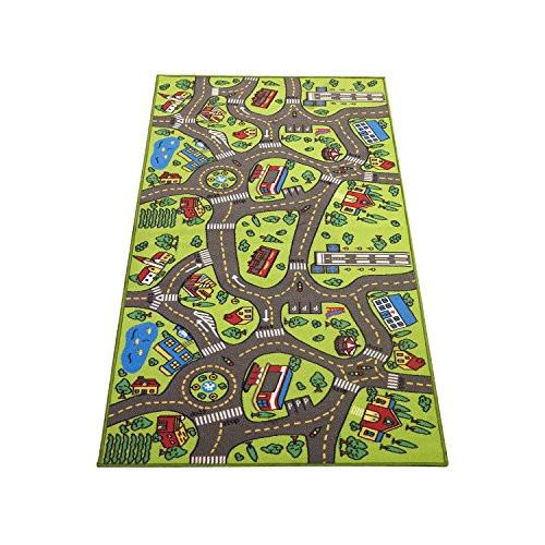 "Extra Large 79"" x 40""! Kids Carpet Playmat Rug- Great For Playing With Cars - Play, Learn And Have Fun Safely"