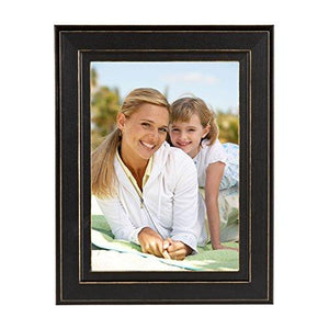 DesignOvation 209133 Kieva Solid Wood Distressed Picture Frame (Set of 6), 5 x 7