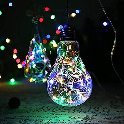 Image of MUMUXI 16 Pack Fairy Lights Battery Operated (Included) 10ft 30 LED Mini String Lights Waterproof Copper Wire Firefly Starry Lights for DIY Wedding Party Mason Jars Christmas Decorations, Warm White