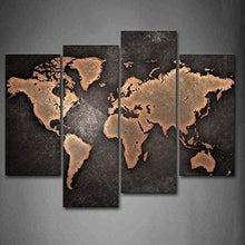 General World Map Black Background Wall Art Painting Pictures Print On Canvas Art The Picture For Home Modern Decoration