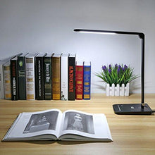 LE Dimmable LED Desk Lamp, 7 Dimming Levels, Eye-care, 8W, Touch Sensitive, Daylight White, Folding Desk Lamps, Reading Lamps, Bedroom Lamps (Black)
