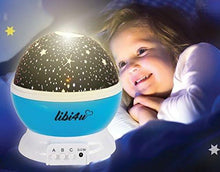 Load image into Gallery viewer, Ceiling stars for kids bedroom and star projector night light planetarium for baby, toddler, nursery and kids with bonus led lamp smart sensor - zingydecor