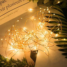 Load image into Gallery viewer, 12 Pack Fairy Lights 7Ft 20 LED Firefly Lights Battery Operated String Lights Silver Wire Starry Moon Lights for DIY Wedding Bedroom Indoor Party Christmas Decorations Warm White - zingydecor