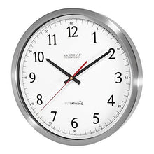 Load image into Gallery viewer, La Crosse Technology 404-1235UA-SS 14 Inch UltrAtomic Analog Stainless Steel Wall Clock