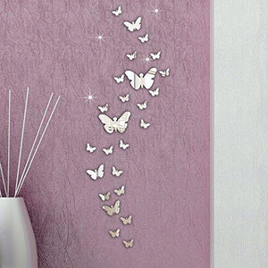 Ussore 30PC Butterfly Combination 3D Mirror Wall Stickers Home Decoration DIY Wall Stickers Decals living... - zingydecor