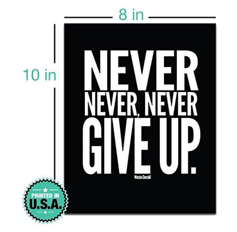 Motivational Inspirational Gym Workout Poster 8 x 10 Set of
