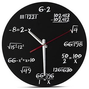 Decodyne Math Wall Clock - Unique Wall Clock - Each Hour Marked By a Simple Math Equation - zingydecor