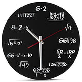 Decodyne Math Wall Clock - Unique Wall Clock - Each Hour Marked By a Simple Math Equation