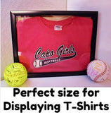 "12x15"" Display Shadow Box Frame with Linen Background - Ready To Hang Large Shadowbox Picture Frame - Easy to Use - Box Display Frame, Baby and Sports Memorabilia, Uniforms, Military Medals, Wedding."