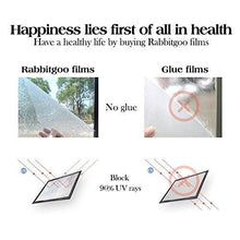 Rabbitgoo 3D Window Films Privacy Film Static Decorative Film Non-Adhesive Heat Control Anti UV 17.7In. By 78.7In. (45 x 200Cm) - zingydecor