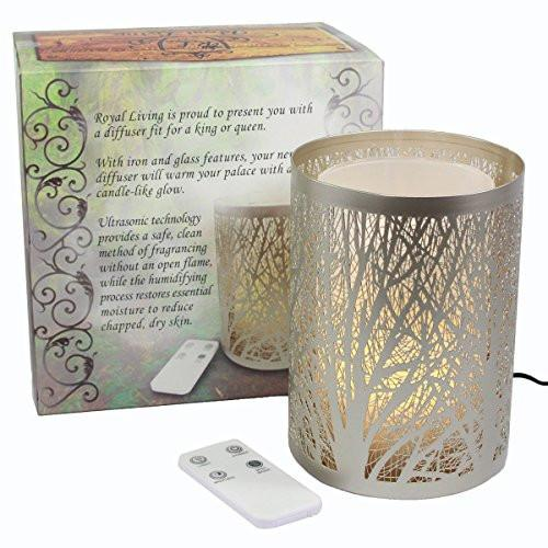 Enchanted Forest Essential Oil Diffuser, Ultrasonic Aromatherapy Humidifier (Silver)