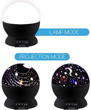 Night Light Kids Lamp, Romantic Rotating Sky Moon & Cosmos Cover Projector Night Lighting for... - zingydecor