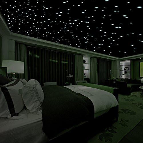 Realistic 3D Domed Glow in the Dark Stars,606 Dots for Starry Sky, Perfect For Kids Bedding Room Gift(606 stars) (Green) - zingydecor