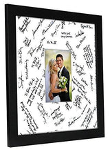 Load image into Gallery viewer, 14x14 Wedding Signature Picture Frame - Matted to Fit Pictures 5x7 Inches or 14x14 Without Mat - Made with Glass - zingydecor