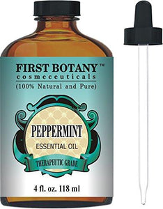 Peppermint Essential Oil 4 fl.oz - 100% Pure & Natural Mentha Piperita Therapeutic Grade...