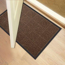 "Load image into Gallery viewer, Large Outdoor Door Mats Rubber Shoes Scraper for Front Door Entrance Outside Doormat 24"" x 36"" Patio Rug Dirt Debris Mud Trapper Waterproof Out Door Mat Low Profile Washable Carpet Brown"