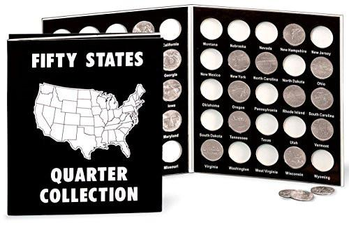 Commemorative State Quarters Black White Album - zingydecor