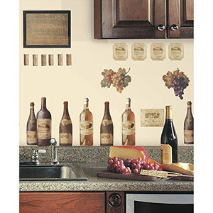 RoomMates RMK1257SCS Wine Tasting Peel & Stick Wall Decals - zingydecor