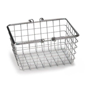 Spectrum Diversified Wire Storage Basket, Small, Chrome - zingydecor
