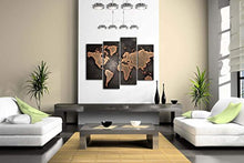 Load image into Gallery viewer, General World Map Black Background Wall Art Painting Pictures Print On Canvas Art The Picture For Home Modern Decoration - zingydecor