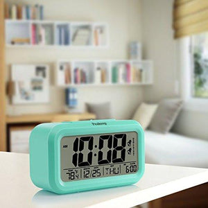 Peakeep Battery Digital Alarm Clock with 2 Alarms, Snooze, Optional Weekday Alarm and Sensor Light
