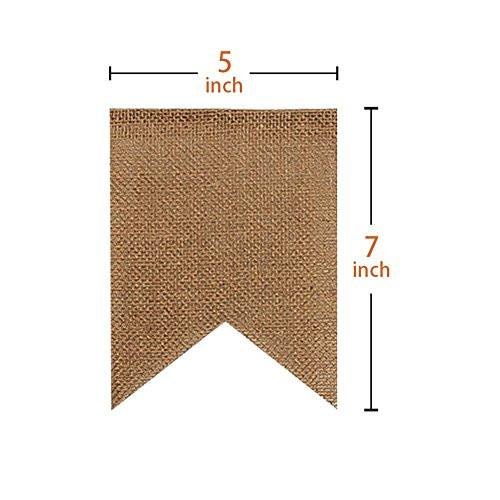 30 Pcs DIY Burlap Banner 29Ft Hand Painted Decoration for Wedding Birthday and Kids Party - zingydecor