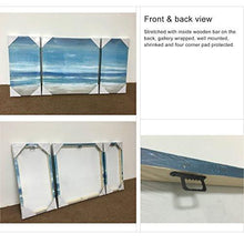 Load image into Gallery viewer, Canvas 3 Panel Cool Blue Abstract Modern Print With Embellishment Wall Pictures for Home Decoration, Ready to Hang - zingydecor
