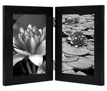 4x6 Inch Hinged Picture Frame with Glass Front - Made to Display Two 4x6 Inch Pictures, Stands Vertically on Desktop or Table Top - zingydecor