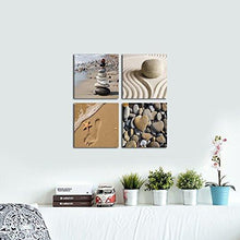 Load image into Gallery viewer, Wieco Art - Romantic Beach Theme 4 Piece Modern Giclee Artwork Sea Beach Ocean Canvas Prints Contemporary Abstract Seascape Pictures Paintings on Canvas Wall Art for Bedroom Home Decorations - zingydecor