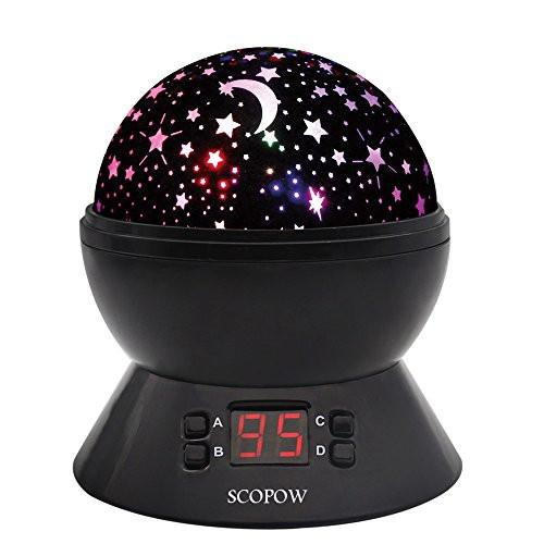 SCOPOW Constellation Night Light Star Sky with LED Timer Auto-Shut Off, 360 Degree Rotation Colorful... - zingydecor