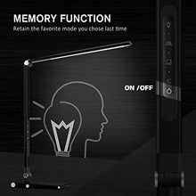 Load image into Gallery viewer, LED Dimmable Desk Lamp, OCOOPA Stylish Metal Table Lamp, Eye Protection Office Light,7 Brightness Levels, Memory Function,Touch Control,10W, 1000 Lumens,Piano Black - zingydecor