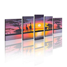 Load image into Gallery viewer, Hand Painted Modern Abtract Framed Canvas Wall Art Oil Paintings Sunset Ready to Hang for Living Room Wall Decor - zingydecor
