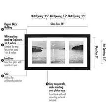 Load image into Gallery viewer, Collage Picture Frame 4x6 - Displays Three 4x6 Inch Portrait Pictures - Photo Collage Frame Perfect for Family Photos - zingydecor
