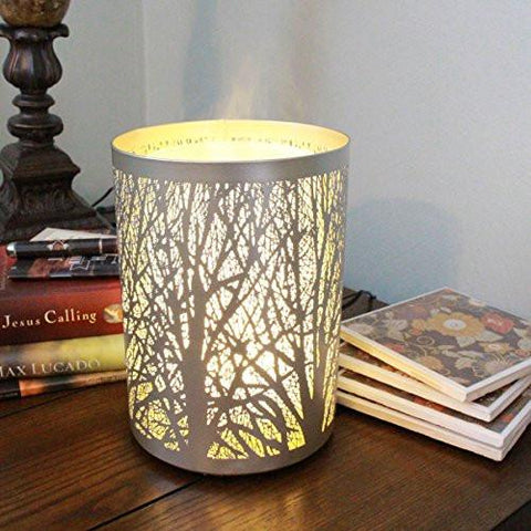 Image of Enchanted Forest Essential Oil Diffuser, Ultrasonic Aromatherapy Humidifier (Silver)