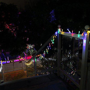 GDEALER Solar Outdoor String Lights 20ft 30 LED Water Drop Solar String Fairy Waterproof Lights Christmas Lights Solar Powered String lights for Garden, Patio, Yard, Home, Christmas Tree, Parties - zingydecor
