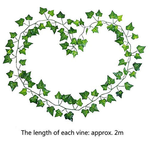 CEWOR 36pcs (236 Feet) Artificial Ivy Fake Greenery Vine Leaves for Home Wedding Garden Swing Frame Decoration - zingydecor
