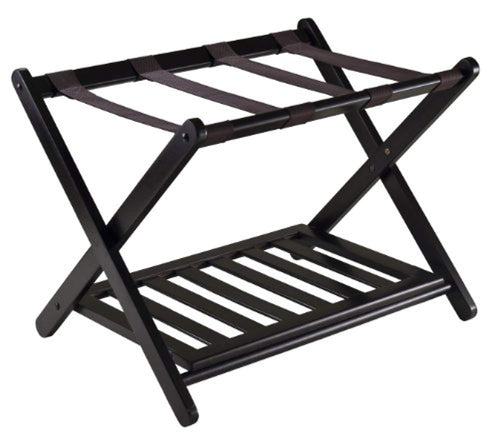 Winsome 92436  Luggage Rack with Shelf - zingydecor