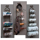 IMAX 9748 Rustic Towel/Wine Rack in Dark Brown